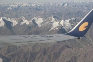 Widok z  samolotu na Stok Kangri