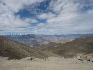 Panorama Ladakh widziana z trasy