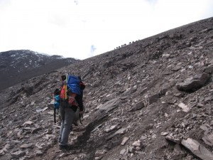 Przed przełęczą Kongmarung La