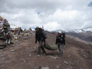 Na przełęczy Kongmarung La