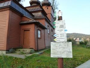Zielony na Ostry Wierch na mapie schematycznej oraz w opisach