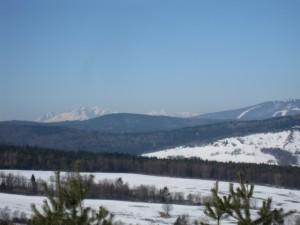 Widok z Bielicznej na Tatry