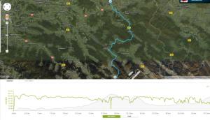 Trasa maratonu Gorlice-Wysowa