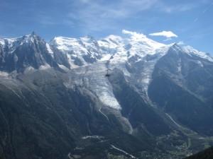 Wagonik i Mount Blanc