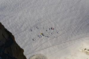 Namioty na lodowcu