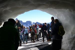 Wyjście ze stacji dla alpinistów