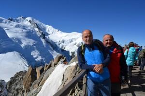 Widok z Aiguille du Midi