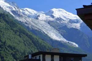Widok z balkonu na Mont Blanc