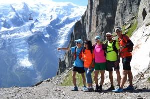 A tam, w dole Chamonix:)